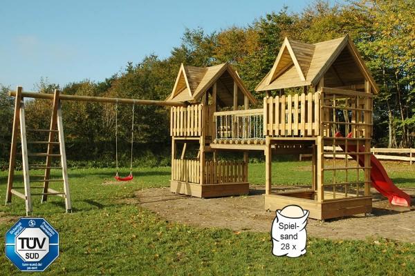 Doppel-Spielturm Ronja mit Hängebrücke