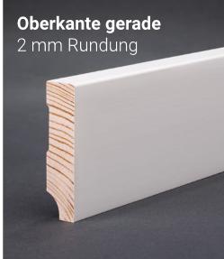 Sockelleiste - Kiefer weiß - Oberkante gerade 80x15