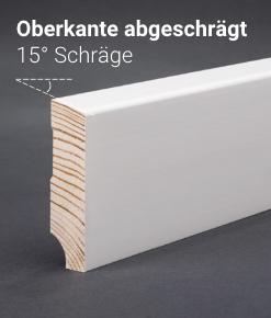 Sockelleiste - Kiefer weiß - Oberkante abgeschrägt 58x15