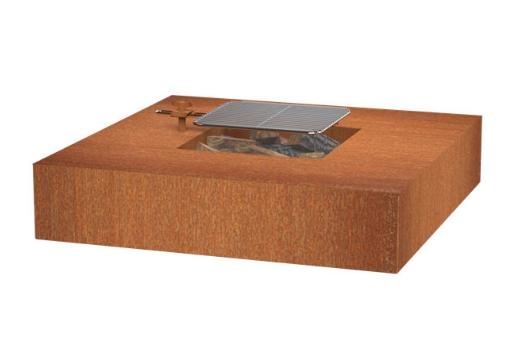 Forno VLS3 Feuertisch quadratisch mit Grill