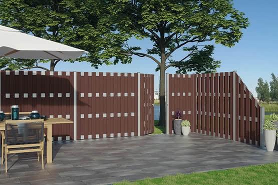 WPC Sichtschutz Zaun Kansas City