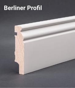 Sockelleiste - Kiefer astrein weiß - Berliner Profil 80x19