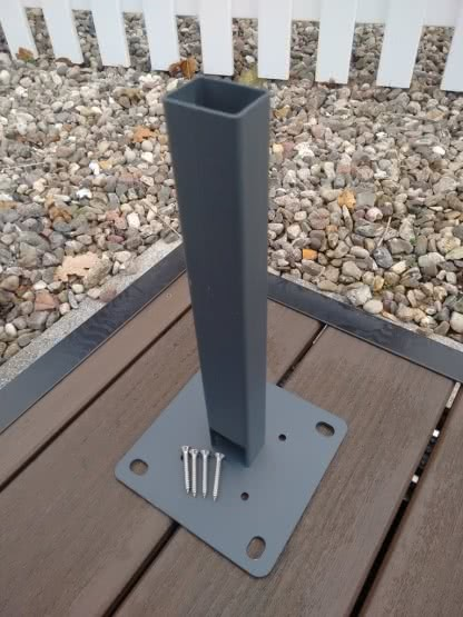 Aluminium-Pfosten für cWPC-Zaun Kingston