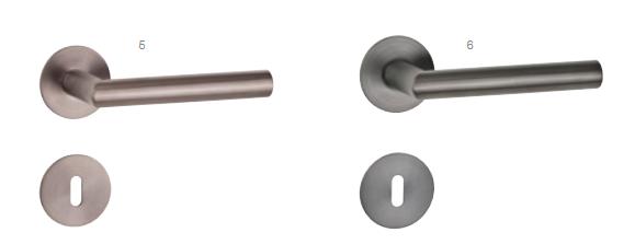 Rosettengarnitur Flächenbündig T-Form -rund-
