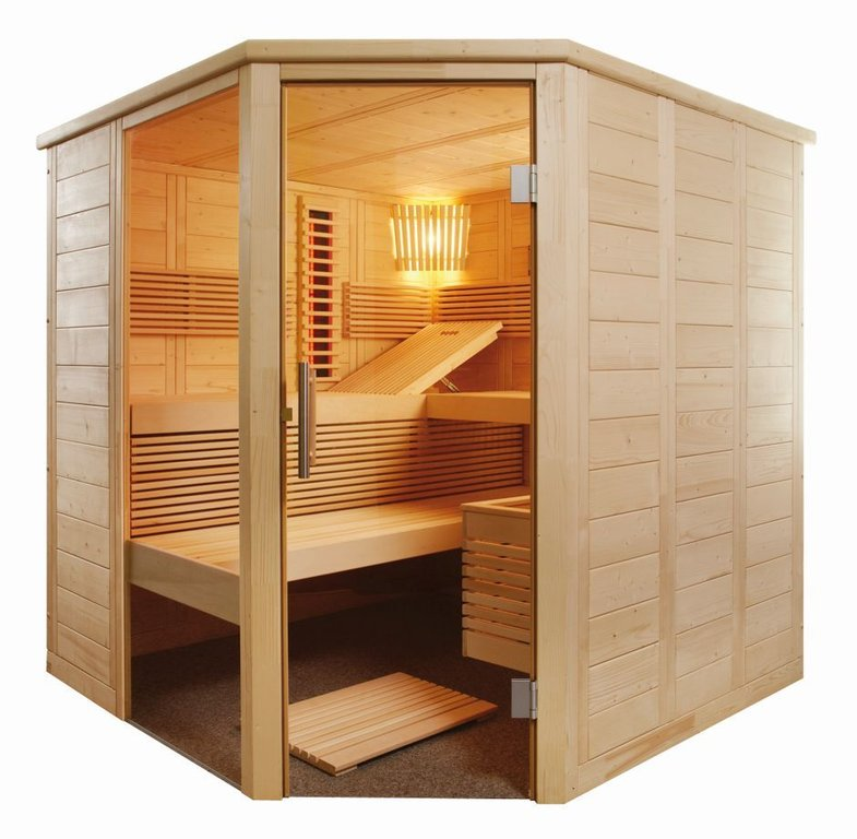 SENTIOTEC Sauna-Infra-Kombi Alaska Corner Infra+