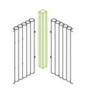 Bamboo Line Verkleidung Eckpfosten