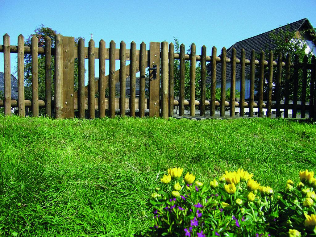Senkrechtzaun: Senkrechtfelder ohne Pfosten; 100 x 250cm