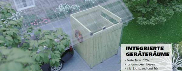 Joda Integrierte Geräteräume (Carport)