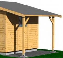 Schleppdach - für Gartenhaus Nordic